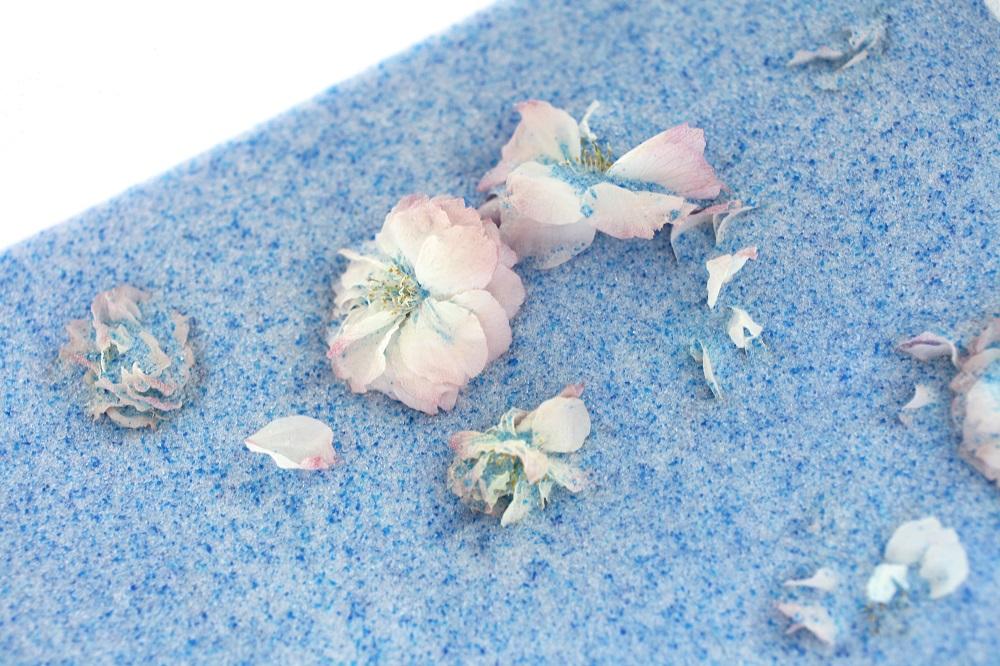 乾燥剤に入れた桜のドライフラワー