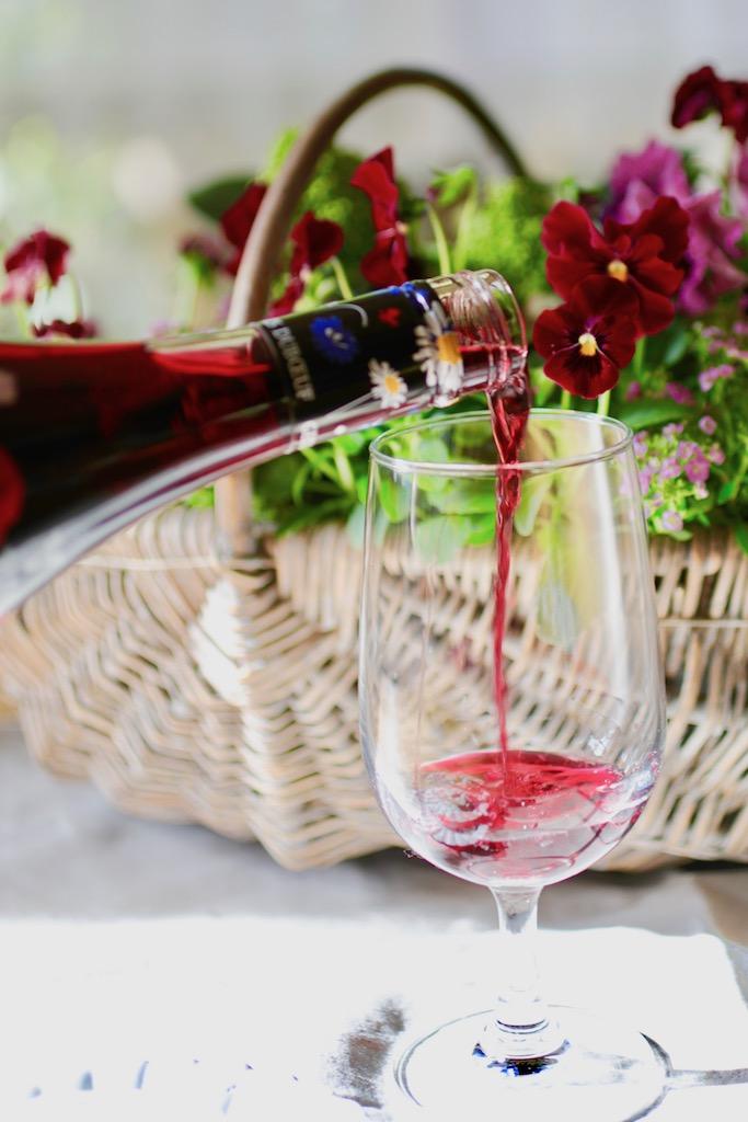 ワインカラーのビオラ
