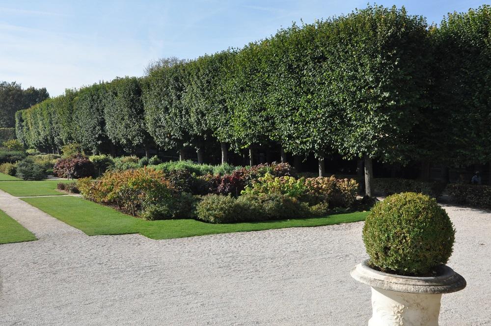 ロダン美術館の中庭