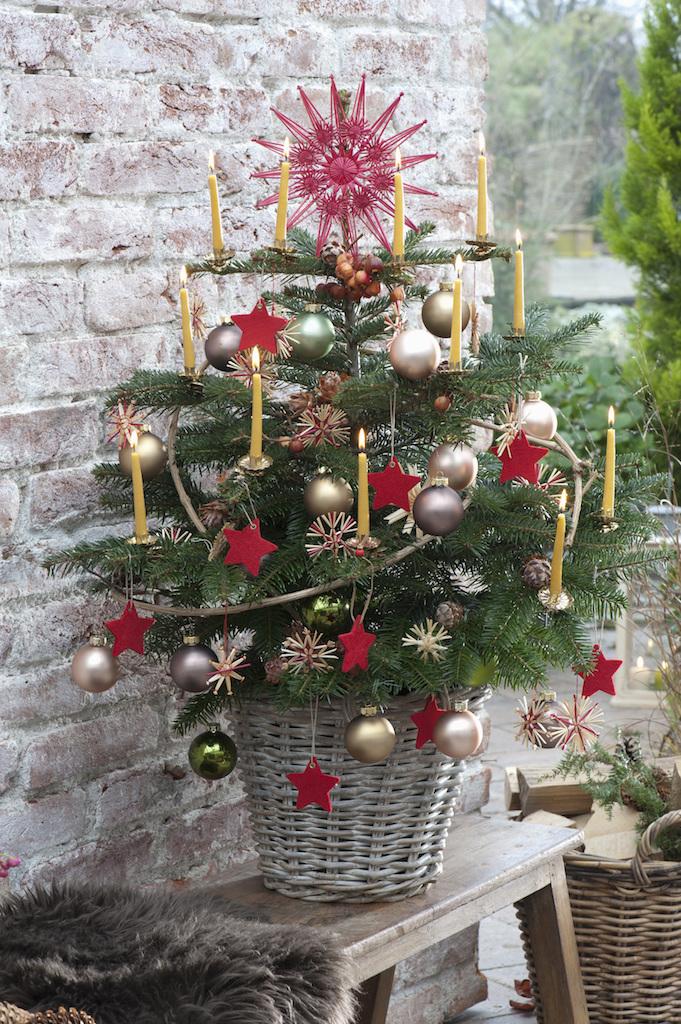 コンパクトなクリスマスツリー