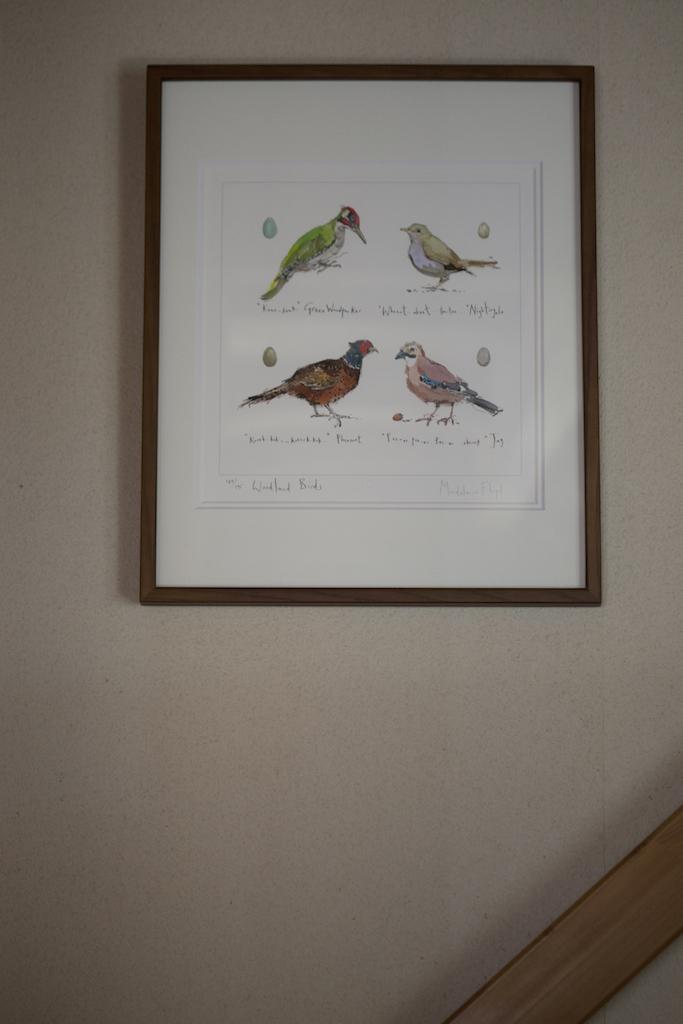 野鳥のリトグラフ