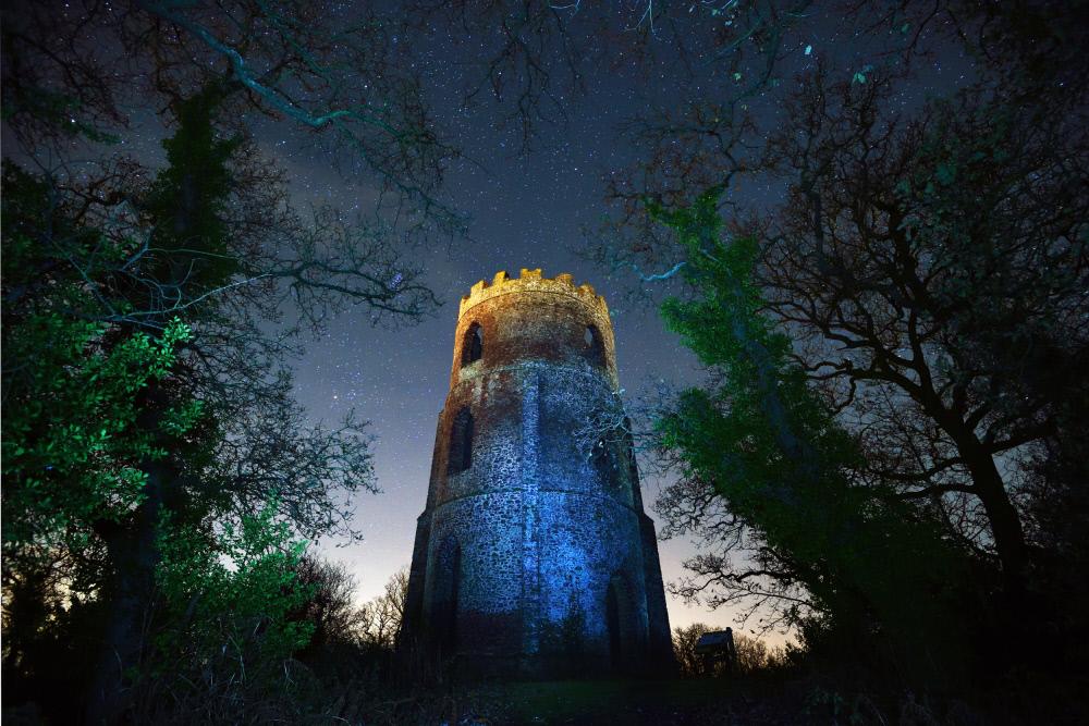 ダンスター城の古塔