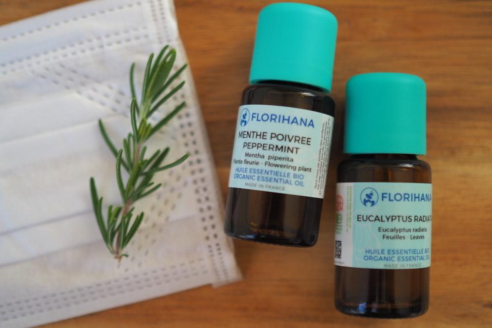 精油で花粉症対策:外出時にはアロママスク