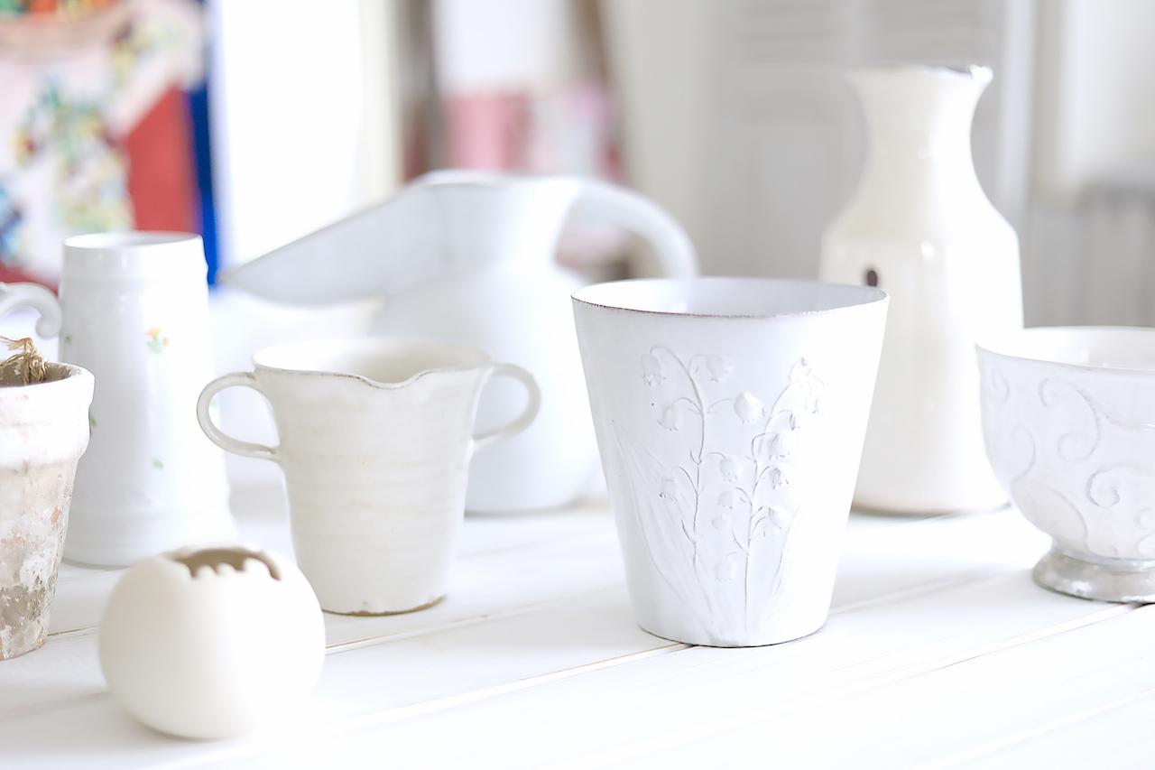 使い勝手のよい白い陶器