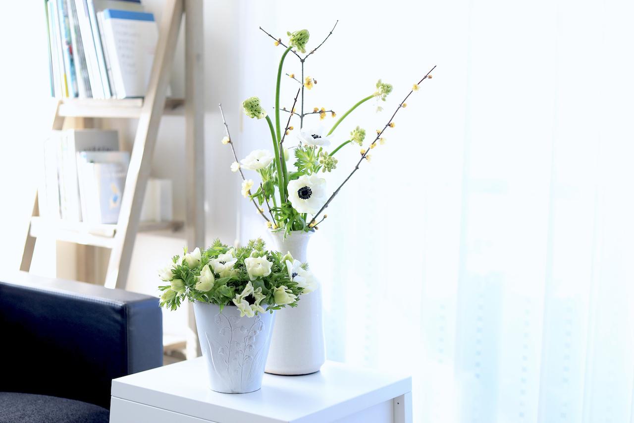 花瓶違いのアレンジメント