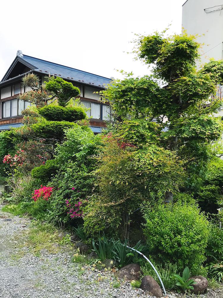 家や敷地、過去を活かした乙庭の植栽