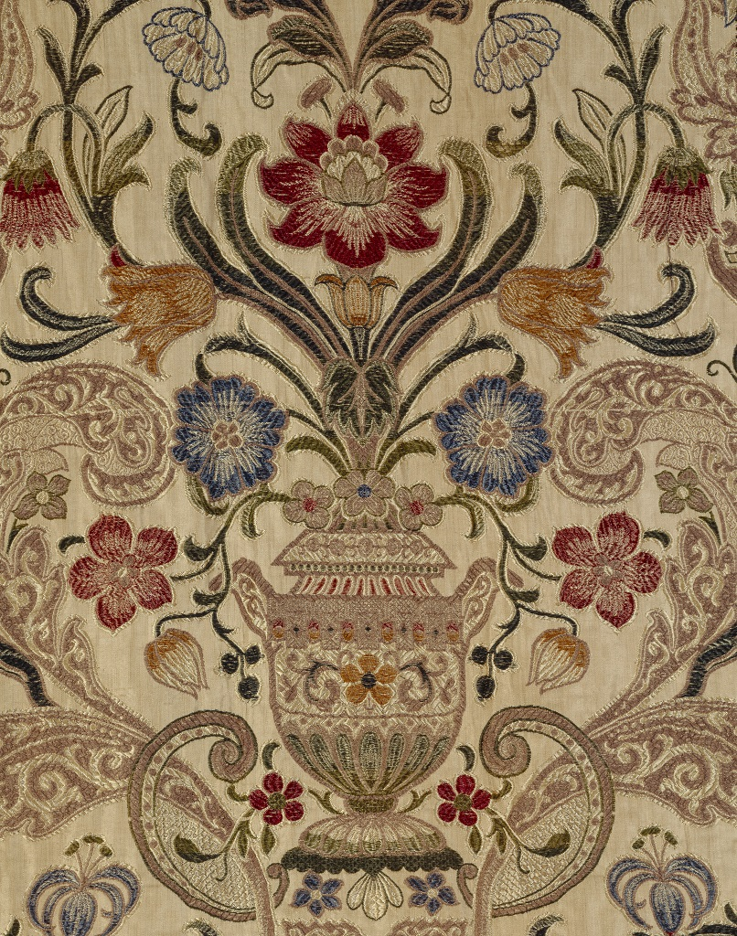 ジャカード織りのベッドカーテン