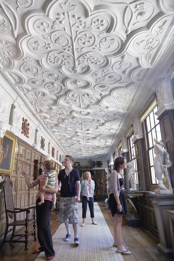 ポーイス城のロングギャラリー