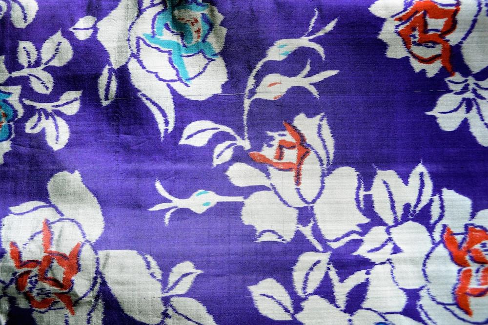 バラが描かれた羽織
