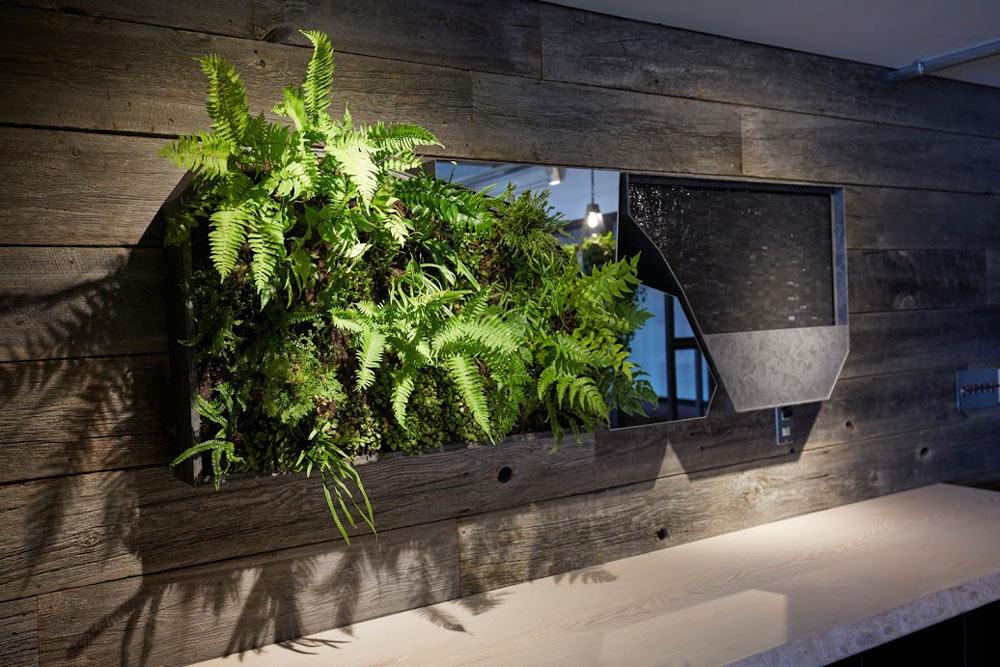 parkERsオフィスの壁面緑化プロダクト