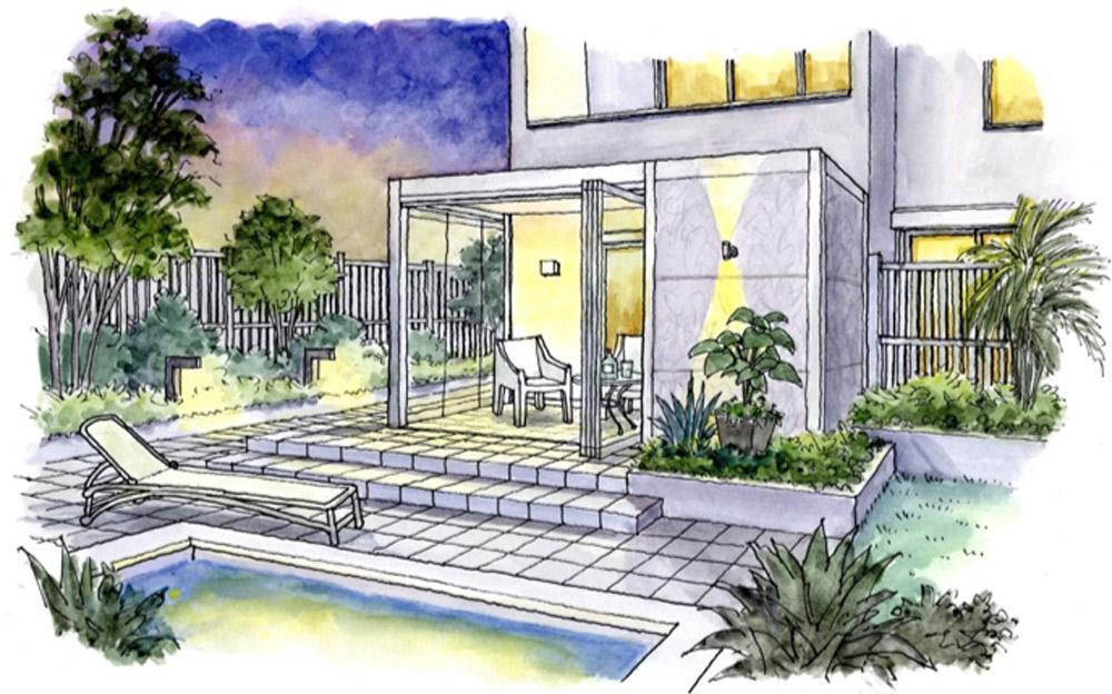 洋モダンの庭のイメージ