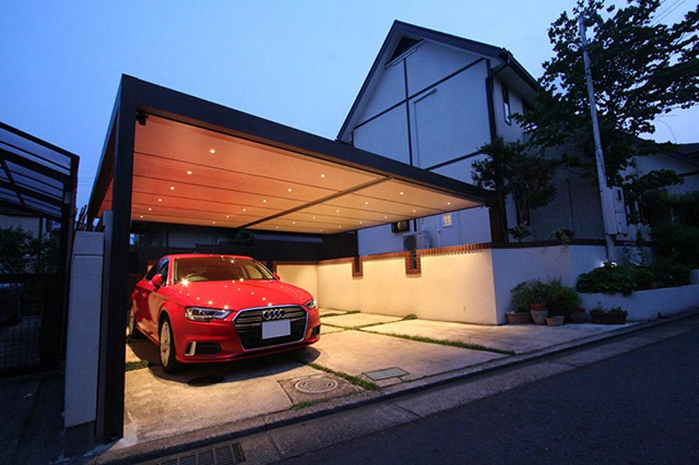 車上荒らし対策に効果的な駐車スペースのライトアップ