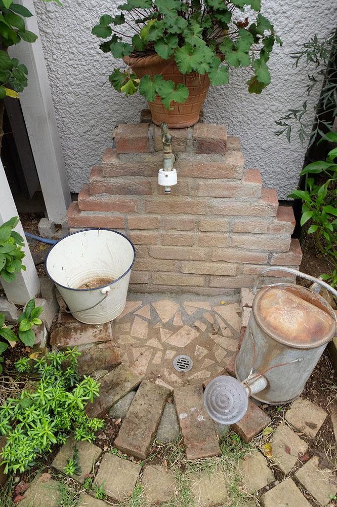 手作りの立水栓