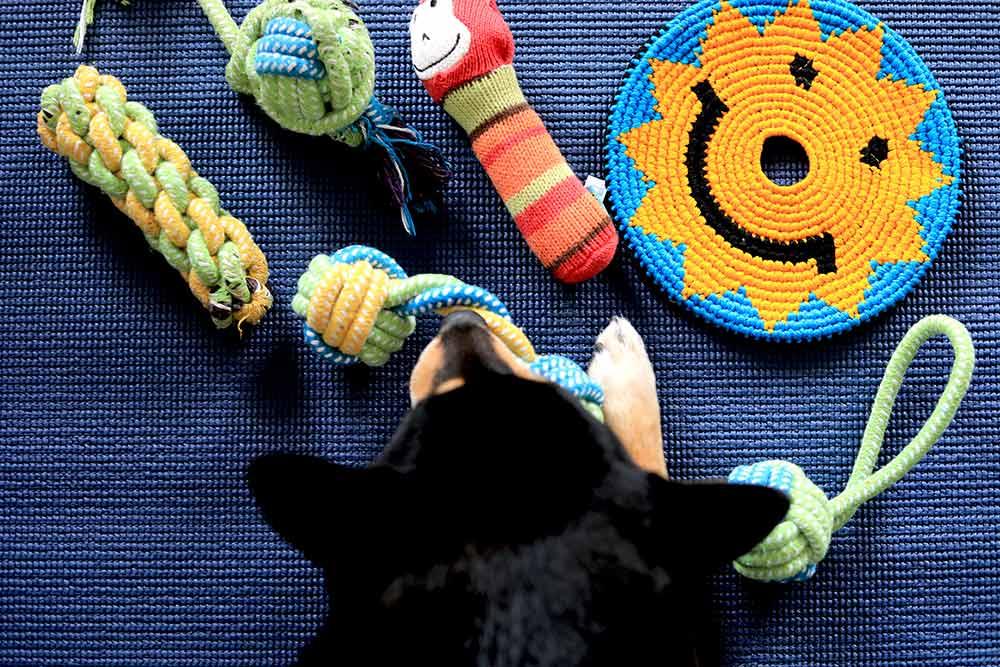 アクリル毛糸のおもちゃ
