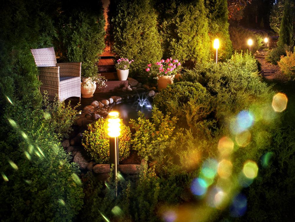 植栽や季節に合わせた光の楽しみ方