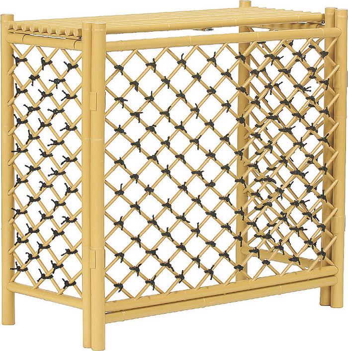 アルミ製:人工竹材の室外機カバー