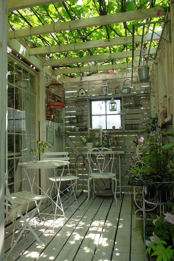 手作りの庭