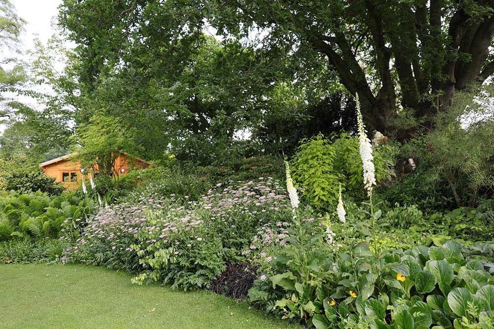 ベスチャトーの花壇