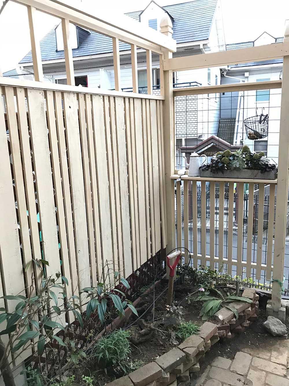 手作りのフェンス