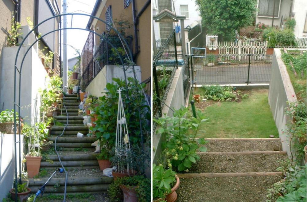 階段ガーデン