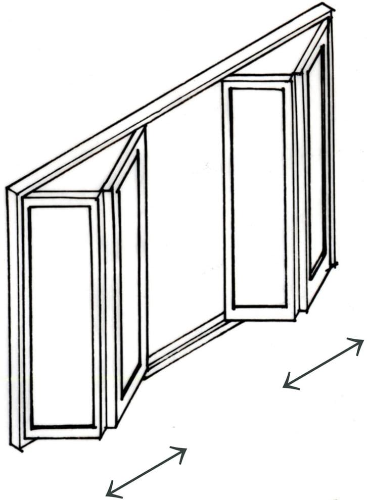 折りたたみ戸(折れ戸)