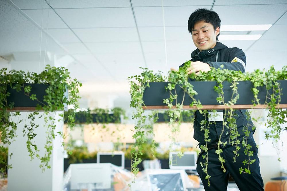 """parkERsでは誰でも""""植物を育てる""""ことに参加できるように維持管理をフォローするサービスを導入"""