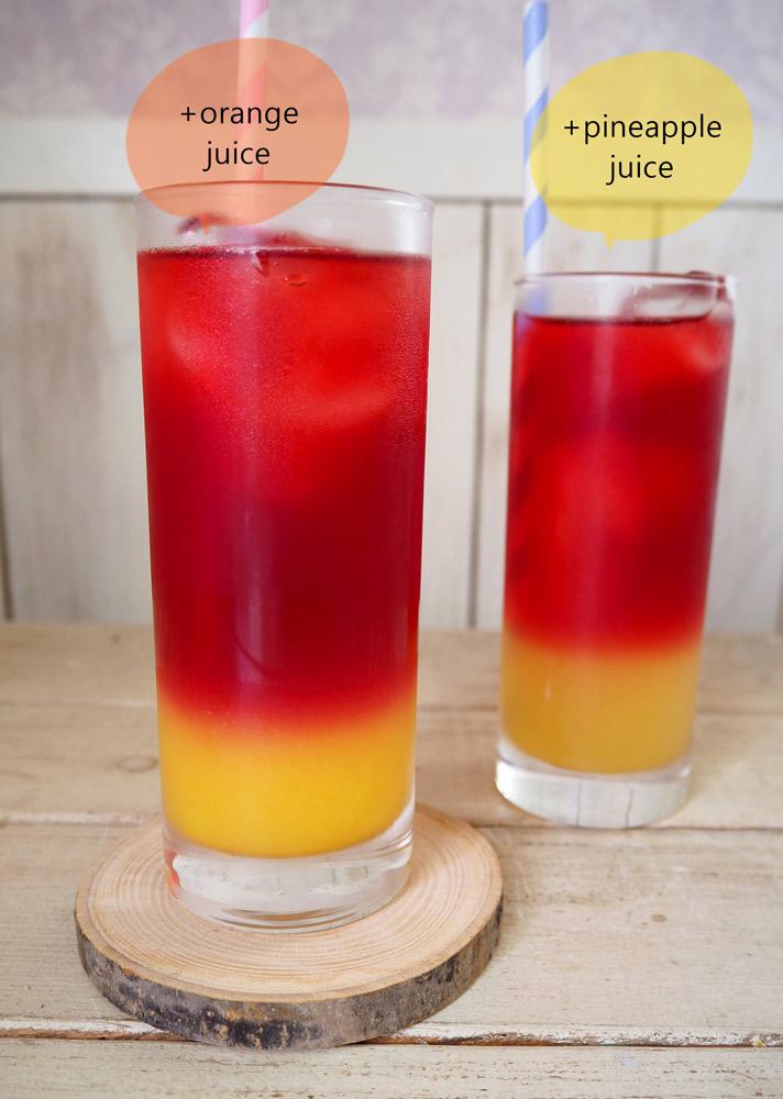 オレンジジュースとパイナップルジュースで作ってみました