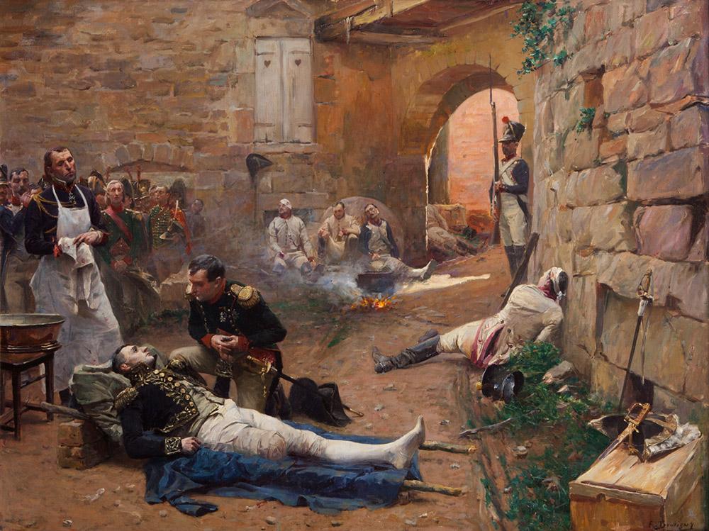 死に瀕するジャン・ランヌを看取るナポレオン・ボナパルト