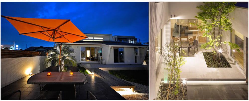庭のスタイルに合わせてパスライトや樹木の照らし方を選ぶ