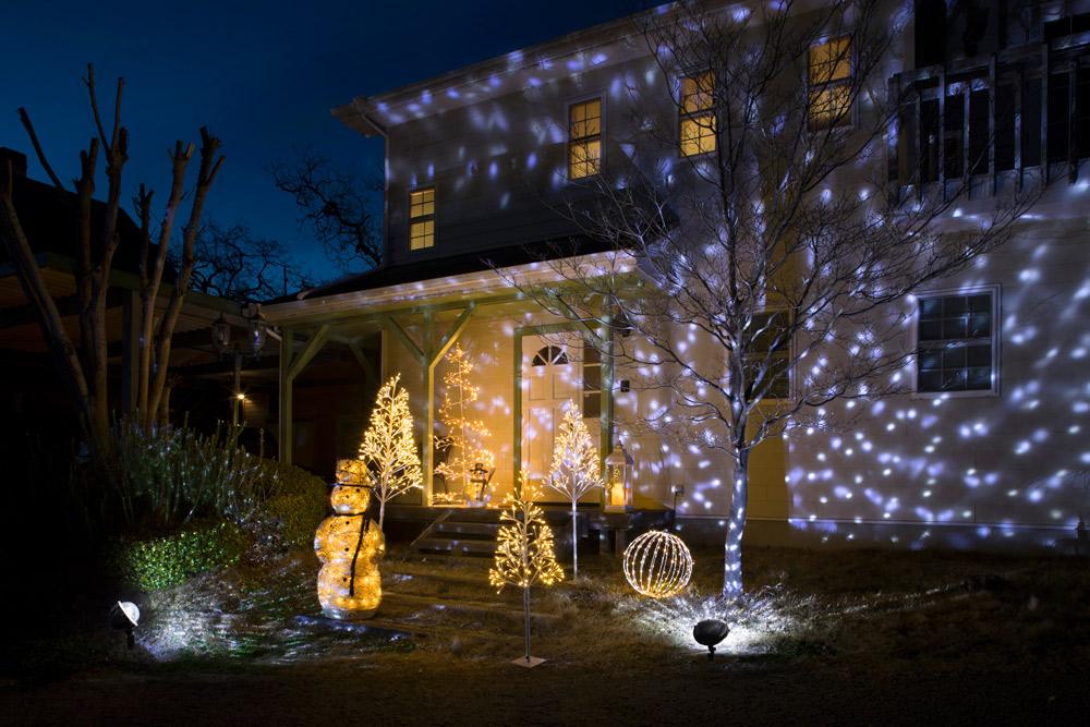 樹木や壁面に光を投影出来る「プロジェクター」