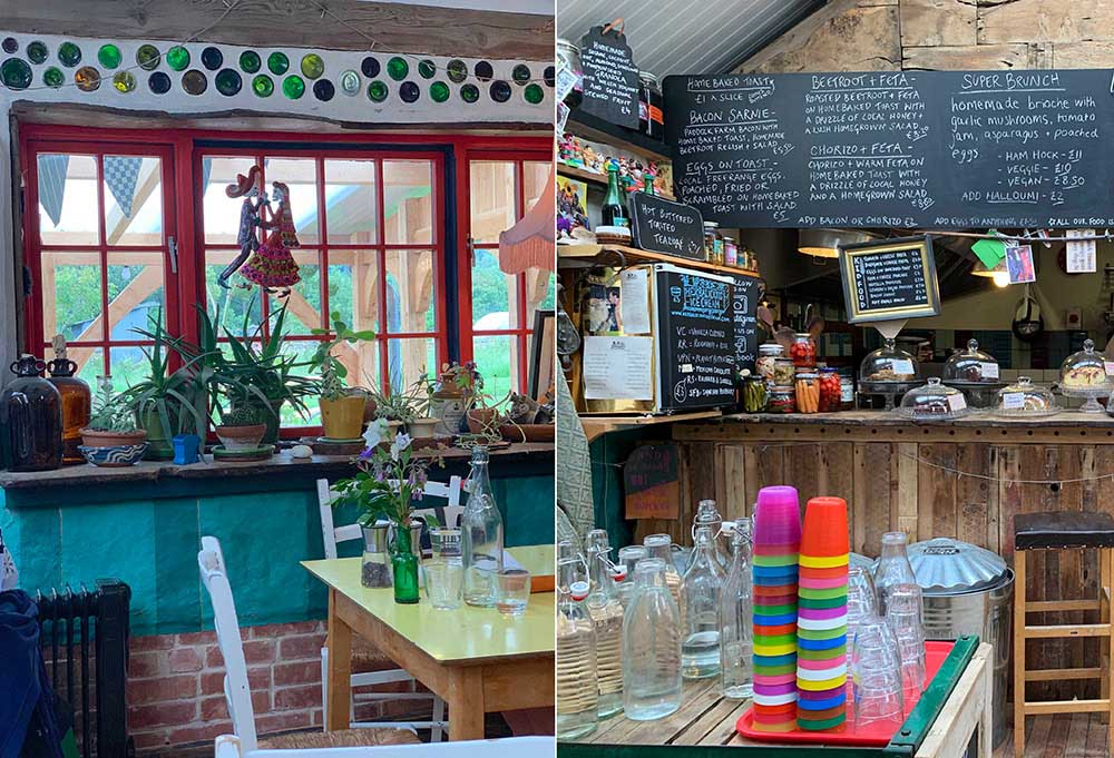 ウィッチフォード・ポタリーのカフェ