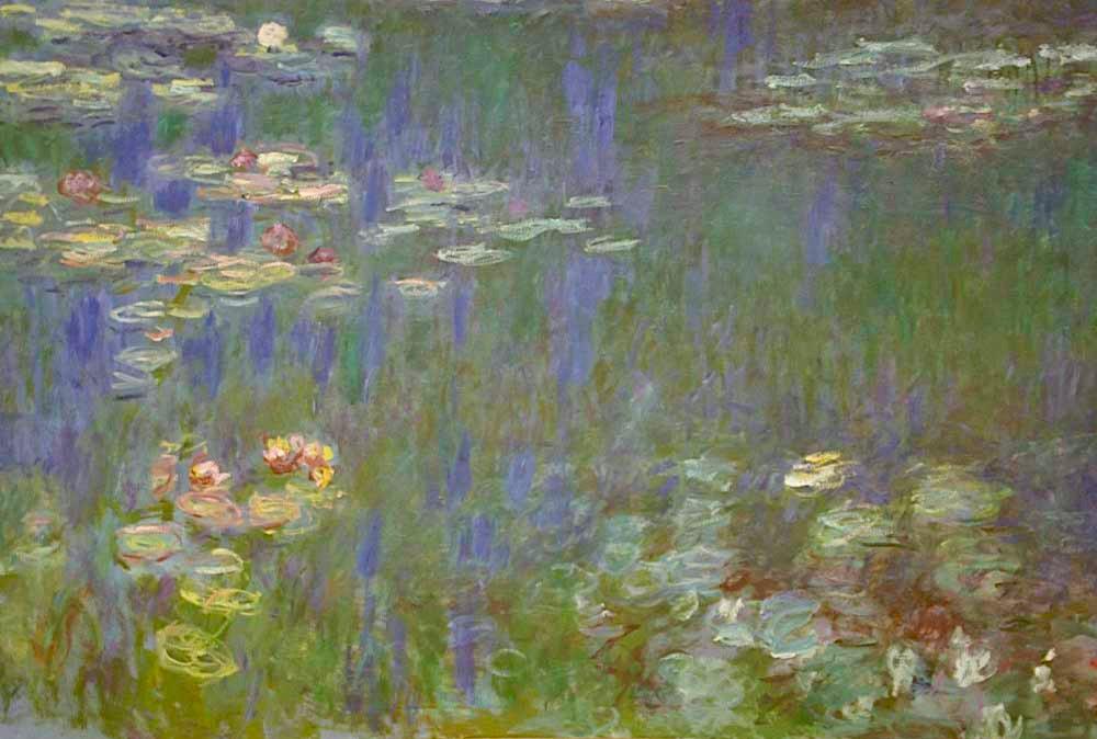 フランス、オランジュリー美術館所蔵、モネの『睡蓮』。