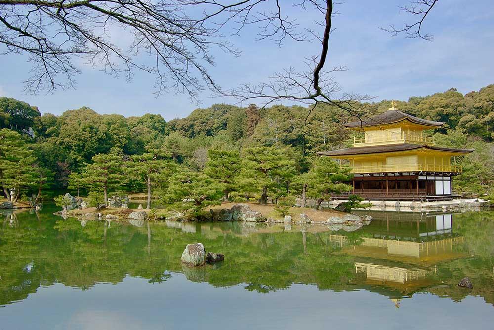 極楽浄土を表した京都「金閣寺」。
