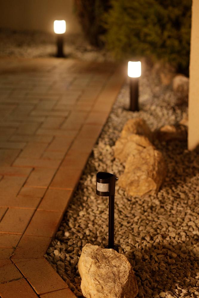 ガーデンライトの種類4:人感センサー搭載型
