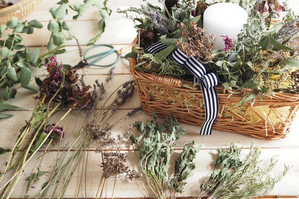 育てたハーブ活用法!色や香りを残す上手なドライの3つコツとアレンジメント