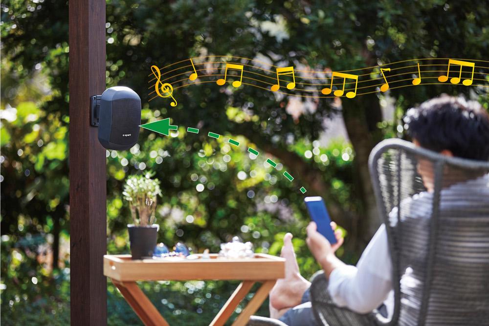 音楽を楽しむサウンドシステム