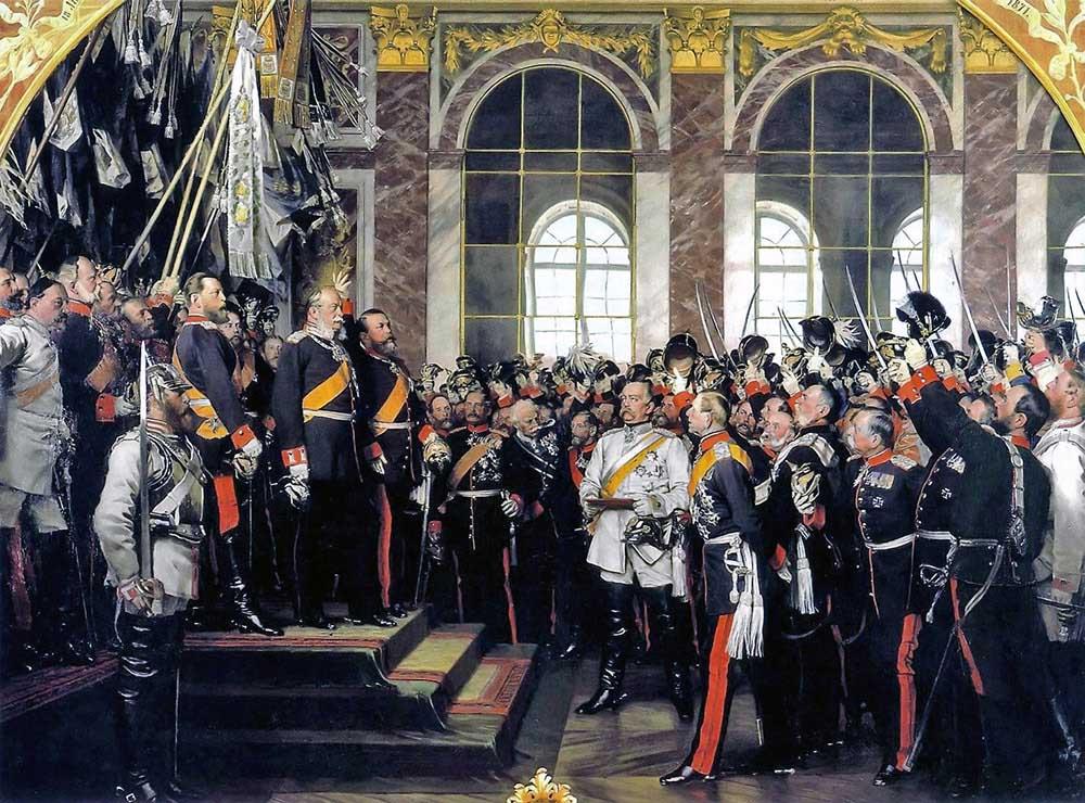 ヴェルサイユ宮殿でのドイツ帝国成立宣言
