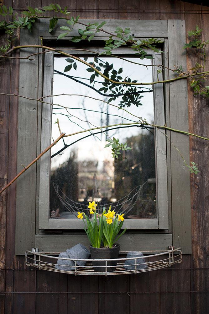 ガーデンシェッドの窓枠