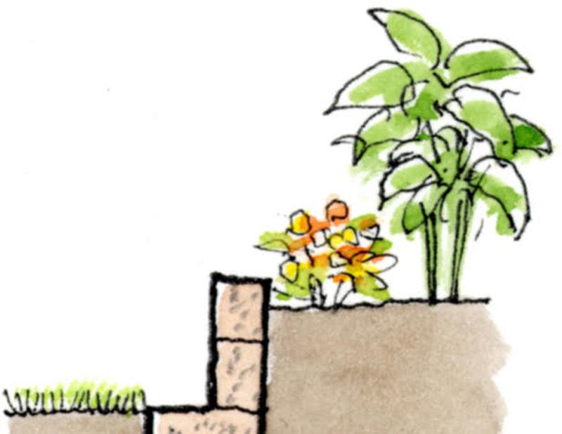 花壇の断面図
