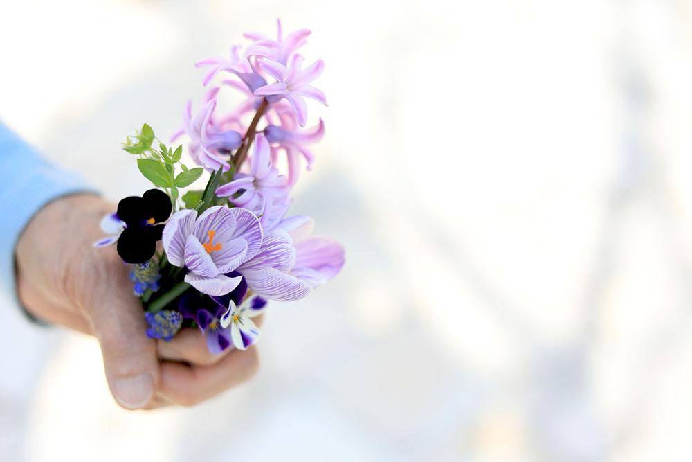 春の花のブーケ