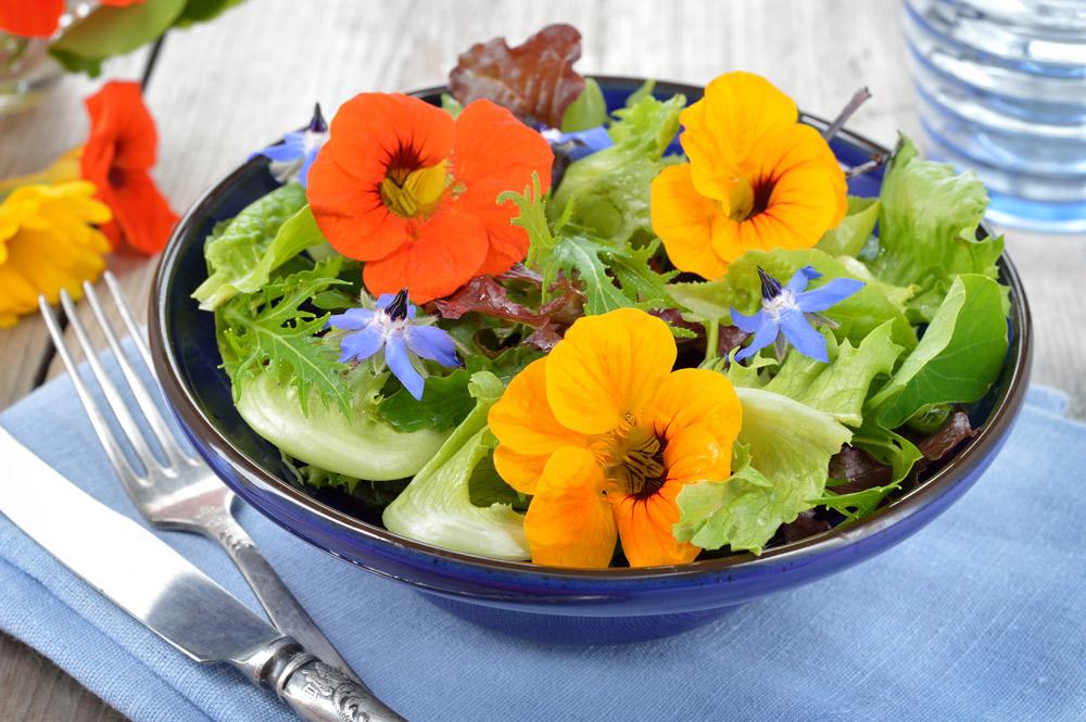 キンレンカのサラダ