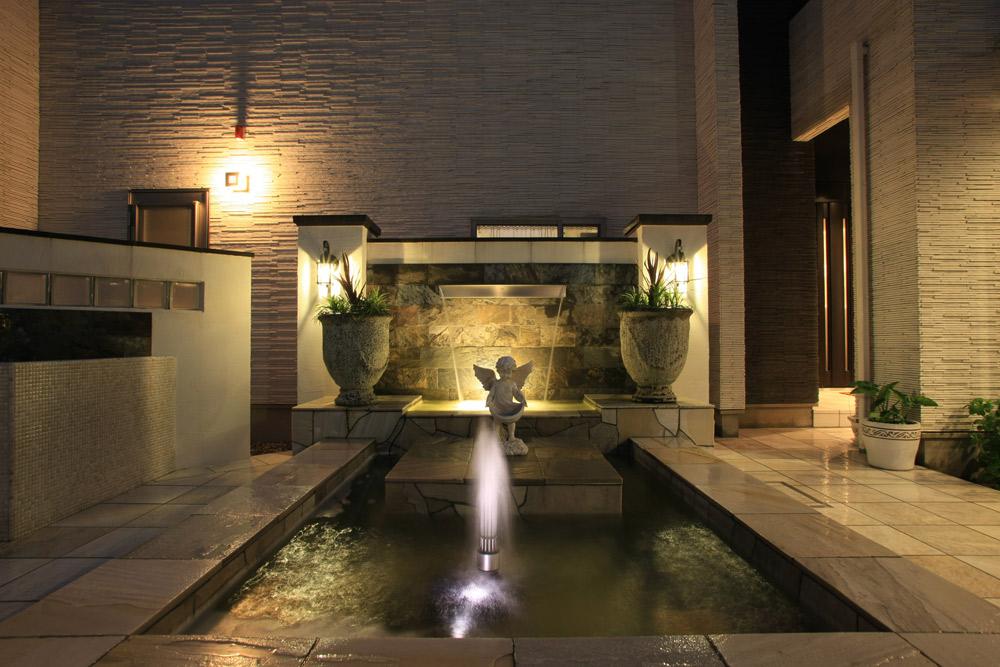 1.噴水をライトアップ