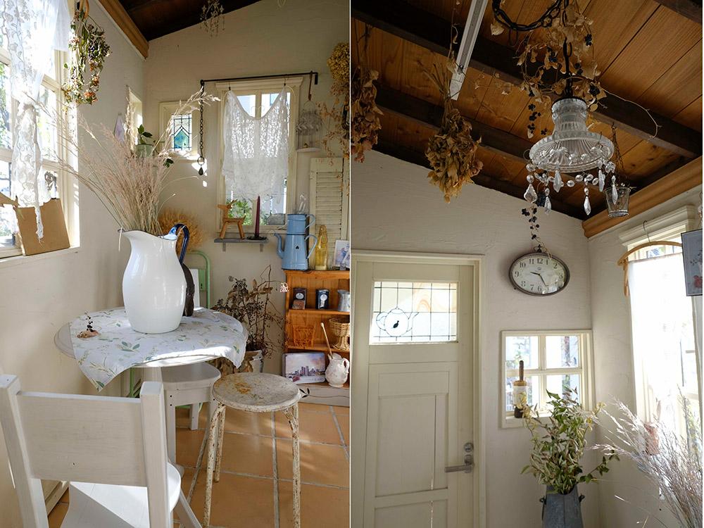 小屋の内部