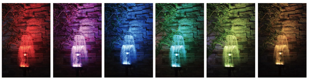 RGBは7色の光で照らすことができます