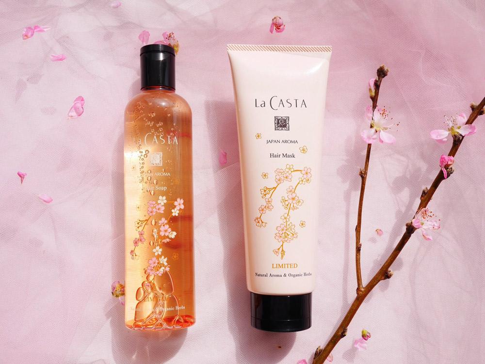 春だけの香りに癒やされる ラ・カスタ「ジャパンアロマ ヘアケアセット しだれ桜」