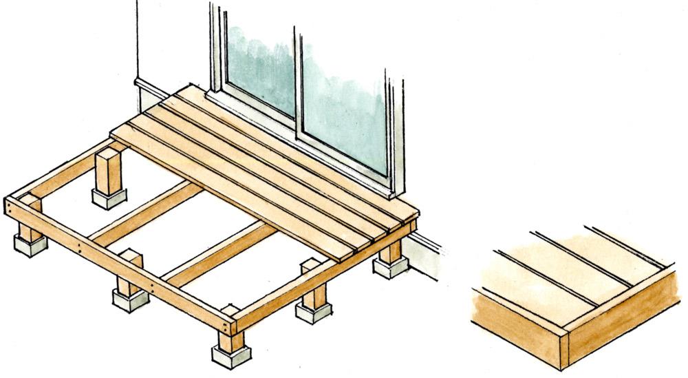 根太の上に床材を張る