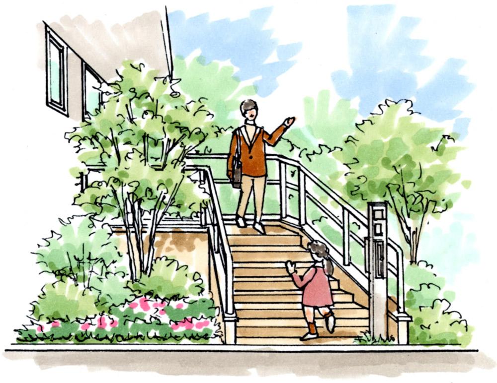 Before 新築時はシンボルツリーや花々で緑豊かなプランター