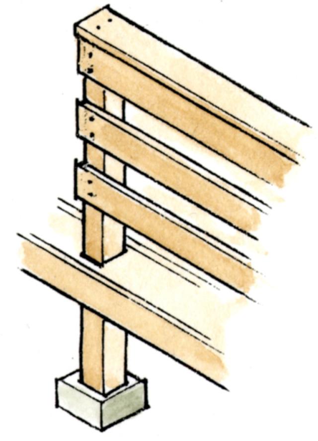 床材を使ったフェンスの参考例