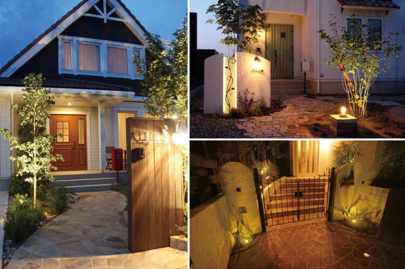 カントリー調の家を可愛くオシャレにライトアップ