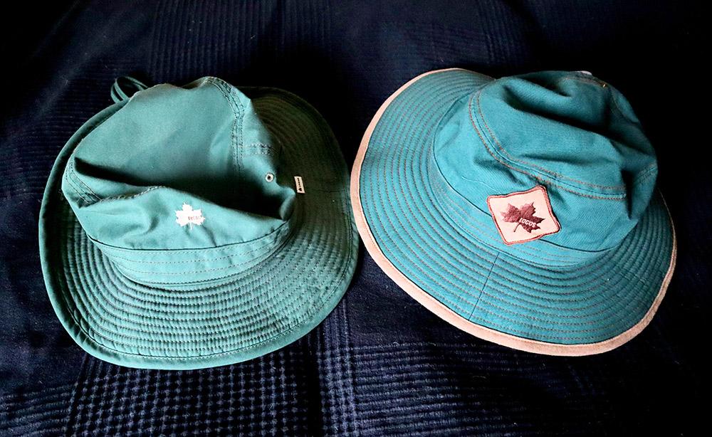 ガーデニングの帽子